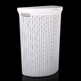 Корзина для белья с крышкой Eco Style, 50 л, 46×26,5×61 см, цвет МИКС