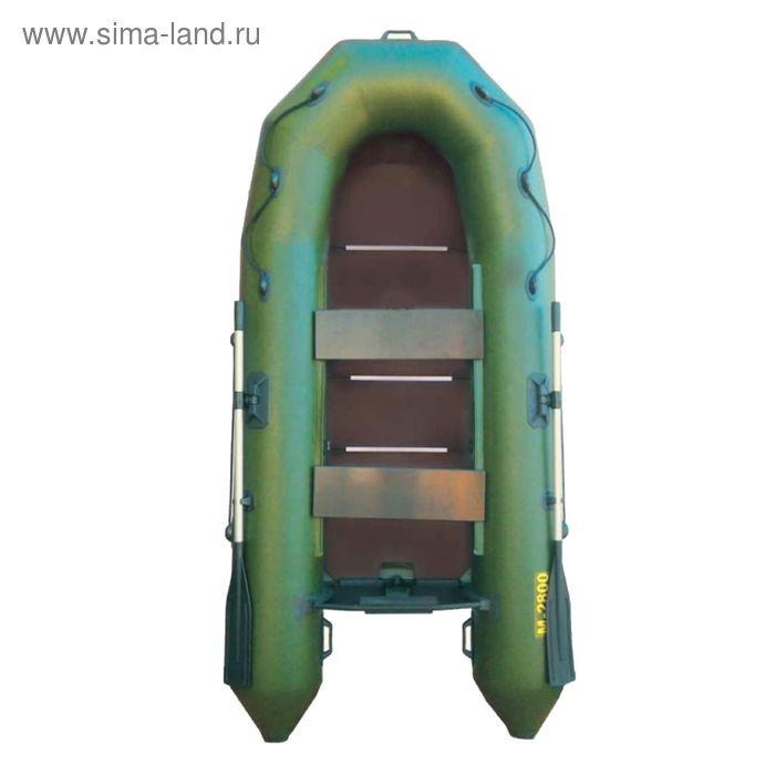 """Лодка """"Муссон"""" 2800 С слань, цвет олива"""