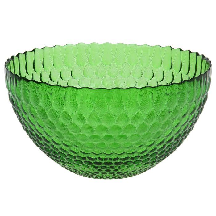 """Салатник 2,8 л """"Роса"""", 25 см, цвет зелёный"""