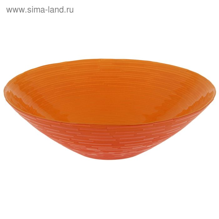 """Салатник d=25 см """"Риски"""" 1,2 л, цвет оранжевый"""