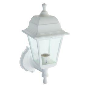 Светильник садово-парковый TDM НБУ 04-60-001, Е27, 60 Вт, четырёхгранный, настенный, белый