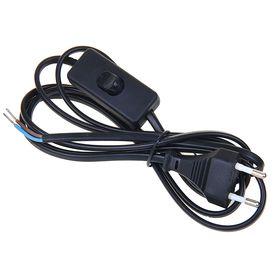 Шнур удлинительный, с выкл. и плоской вилкой, 2 х 0.75 мм2, 2 м, черный, SQ1305-0002