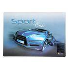 Покрытие настольное для творчества пластиковое 339х224 мм «Sport car синий»