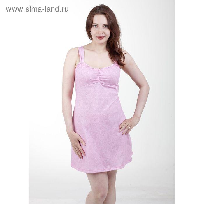 Сорочка женская, цвет белый/светло-розовый, размер 60 (арт. 1126-1)