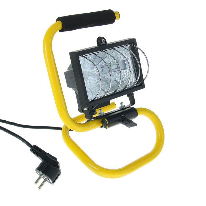 Прожектор галогенный TDM ИО150П, 150 Вт, IP54, переносной, чёрный