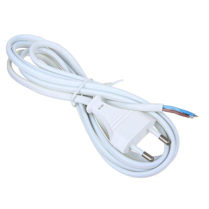 Шнур TDM, 1.7 м, плоская вилка, ШВВП 2 х 0.75 мм2, белый, SQ1305-0011
