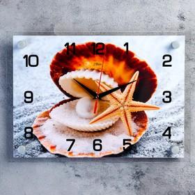 Часы настенные прямоугольные 'Жемчужина', 25х35 см микс Ош