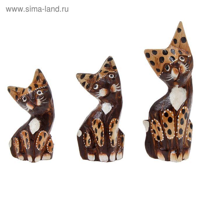 """Набор сувениров """"Кошки Бантен"""" 3 шт.: 8, 10, 12 см"""