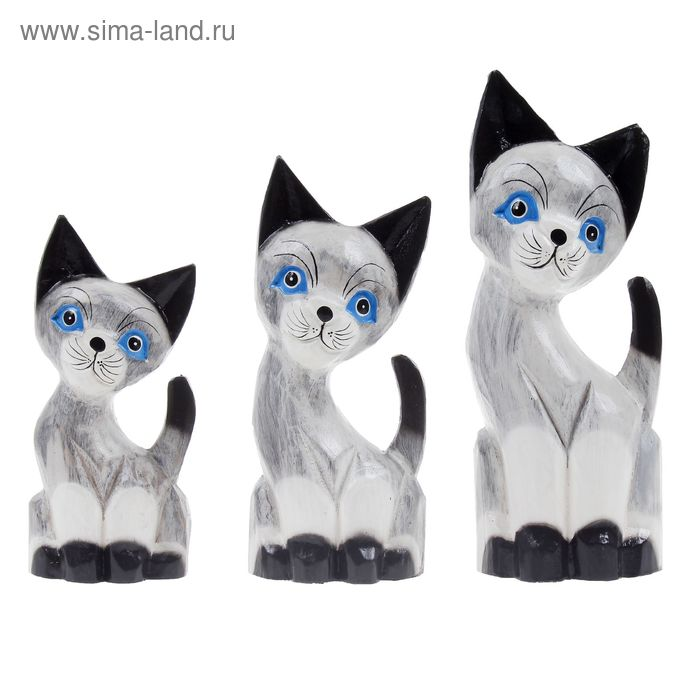 """Набор сувениров """"Кошки"""" 3 шт.: 25, 30, 35 см"""