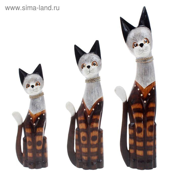 """Набор сувениров """"Кошки Бантен"""" 3 шт.: 40, 50, 60 см"""