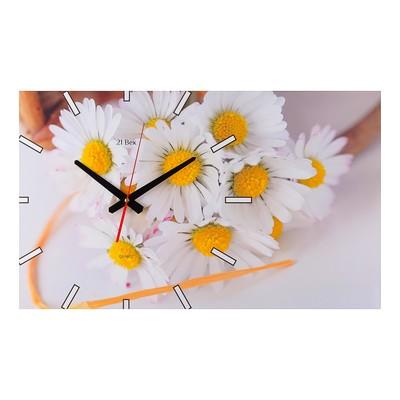 """Часы настенные, серия: Цветы, """"Ромашки"""", 61х37 см  микс"""