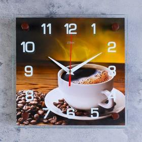 """Часы настенные, серия: Кухня, """"Кофе"""", микс 25х25 см"""