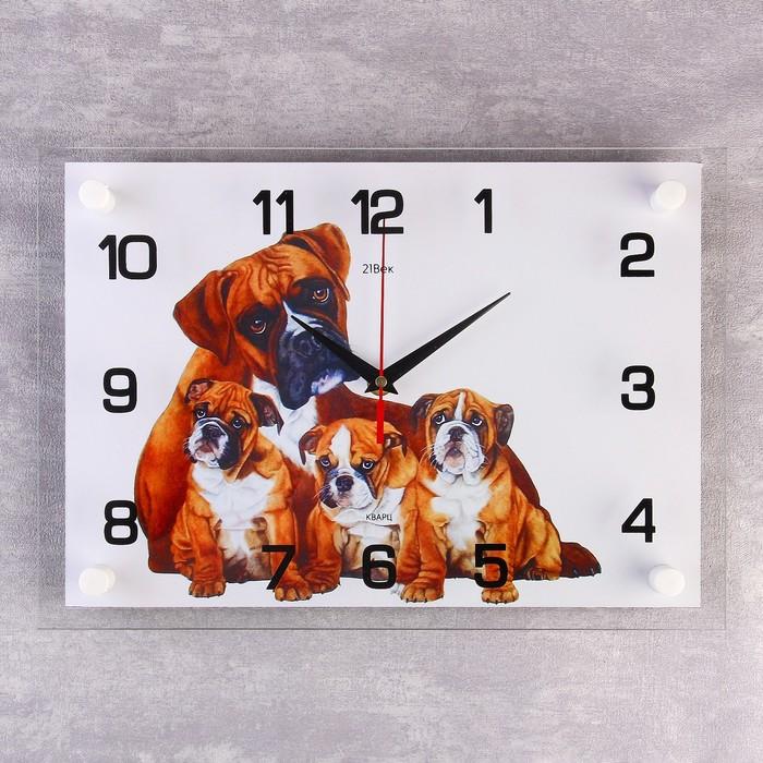 """Часы настенные, серия: Животный мир, """"Собачья семейка"""", 25х35  см, микс"""