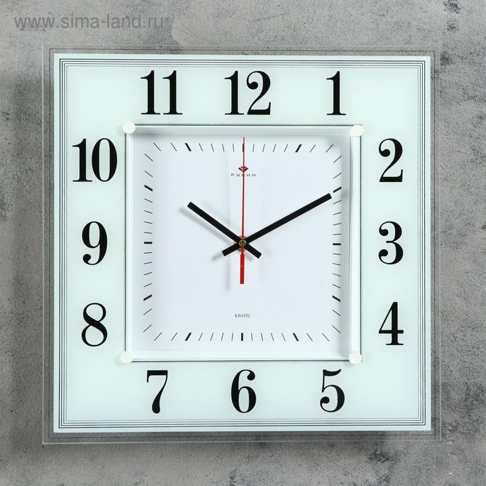 "Часы настенные квадратные ""Белая классика"", 36х36 см"