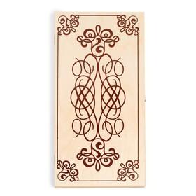 """Нарды """"Узор"""",  деревянная доска 40х40 см, с полем для игры в шашки"""