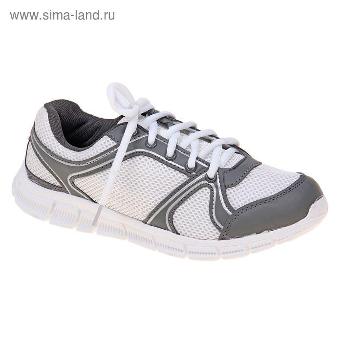 Кроссовки женские, цвет белый/серый, размер 37 (арт. LSW 0026-2-6)
