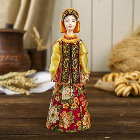 Сувенирная кукла 'Нина' в традиционном праздничном костюме Россия Ош