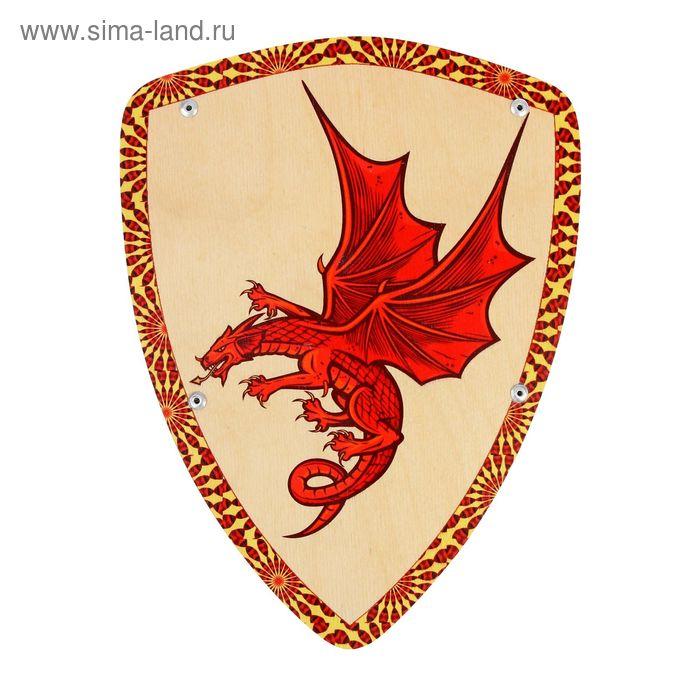 Деревянный щит «Дракон»