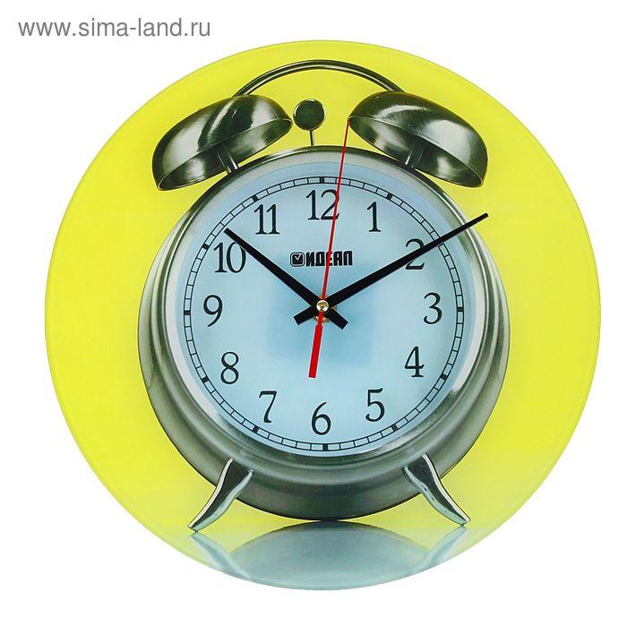 """Часы настенные""""Будильник"""", стекпо,круг,28х28см"""
