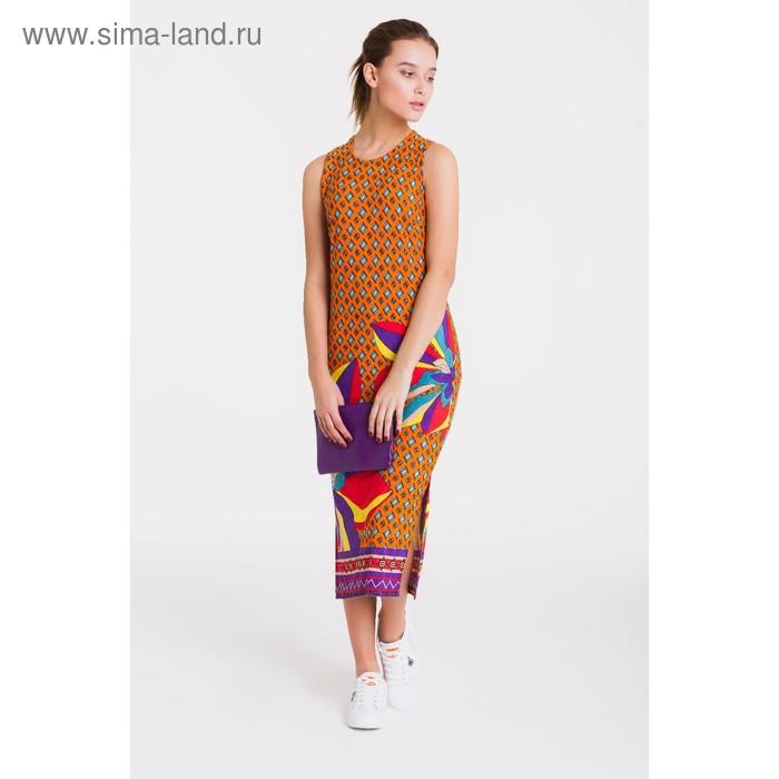 Платье 4758, размер 46, рост 164 см, цвет оранжевый