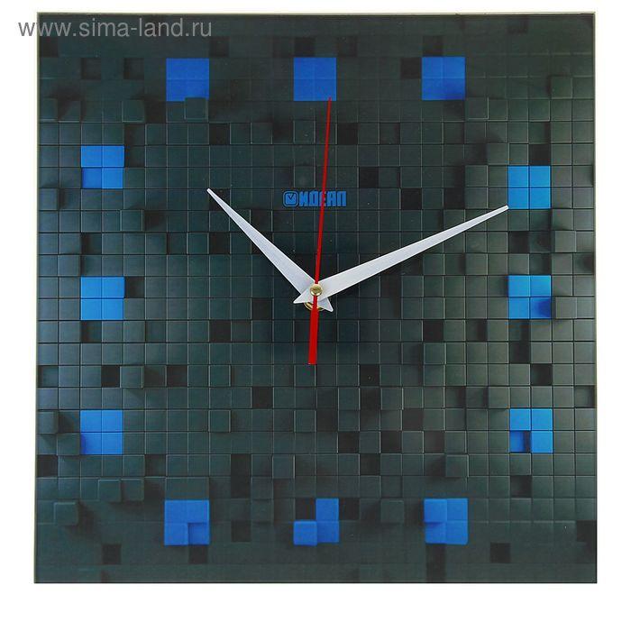 """Часы настенные """"Заслон"""", стекло,квадрат,28х28см"""