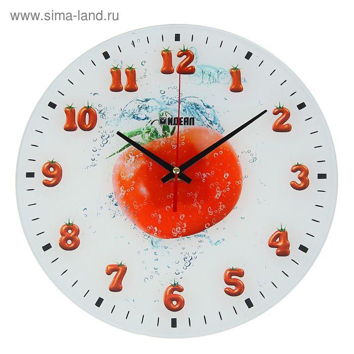 "Часы настенные ""Томат"", стекло,круг,28х28см"