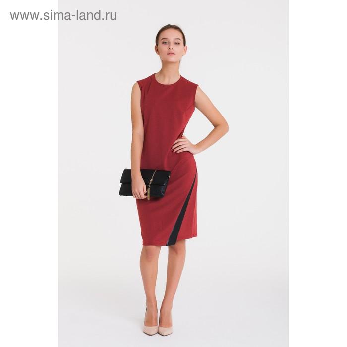 Платье 4762, размер 46, рост 164 см, цвет кирпичный/черный