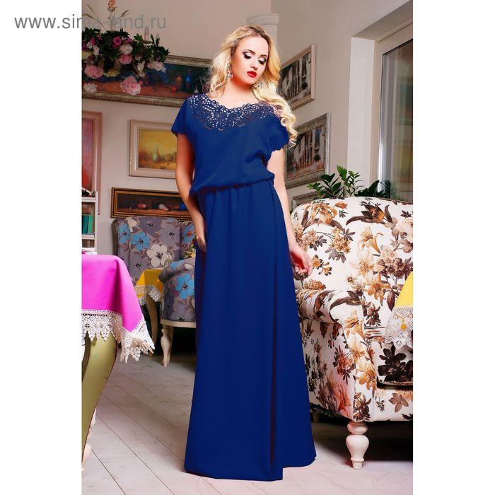 Платье женское, цвет электрик, рост 168 см, размер (48-50) (арт. 71170 С+)