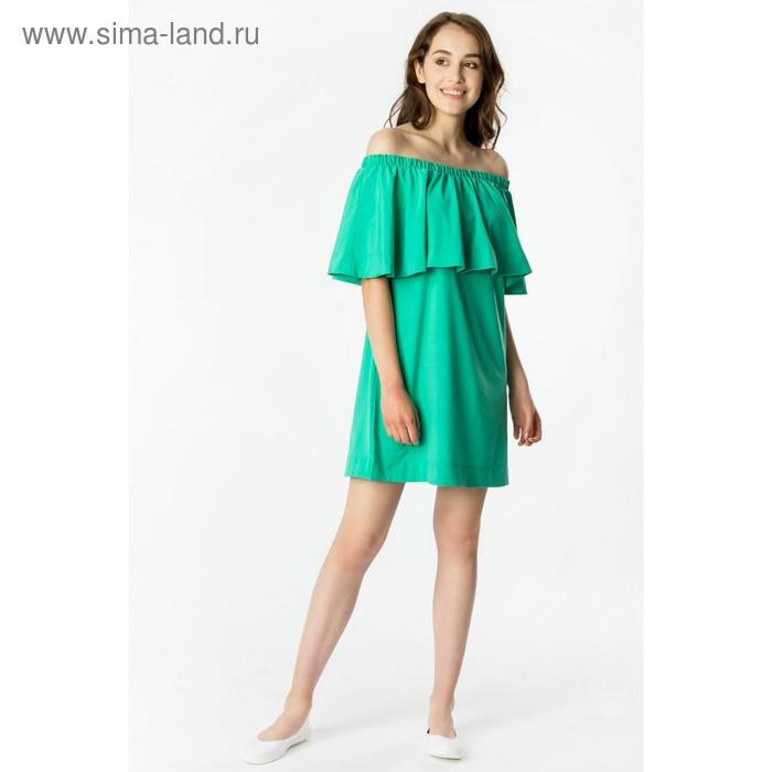 Платье женское, цвет изумруд, рост 168 см, размер XXL (50) (арт. 71168 С+)