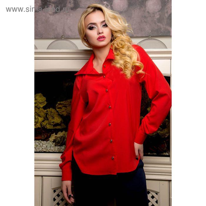 Блуза женская, цвет красный, рост 168 см, размер XXL (50) (арт. 72044 С+)