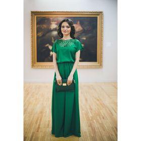 Платье женское 71170   цвет зелёный, размер S-M (42-44), рост 168