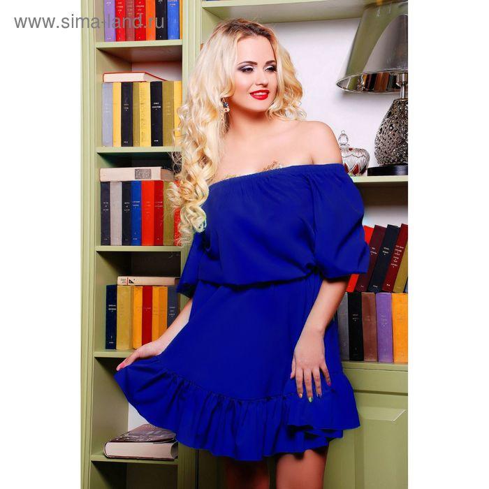 Платье женское 71167  цвет электрик, размер L-XL (46-48), рост 168