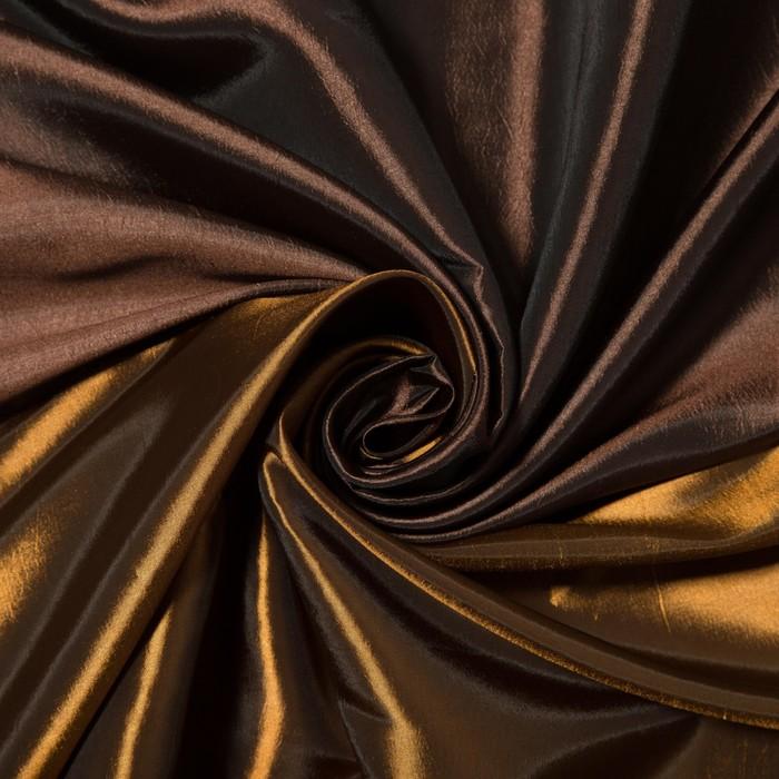 """Штора портьерная """"Тафта комби"""", ширина 200 см, высота 260 см-1шт., цвет коричневый"""