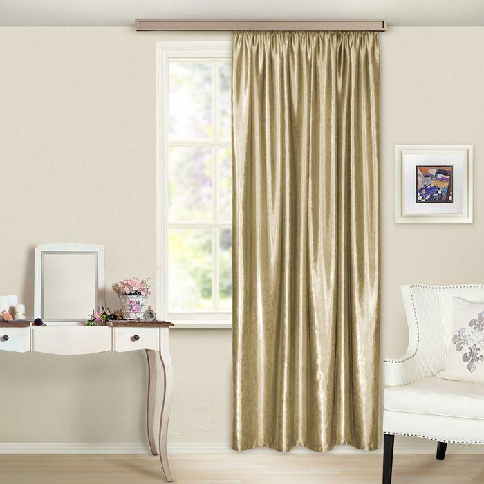Штора портьерная, «Водевиль», 135х260 см, цвет светло-золотой, тиснение - фото 1642711