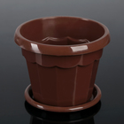 "The pot of flowers with pallet 0,7 l ""Eric"", color terracotta"
