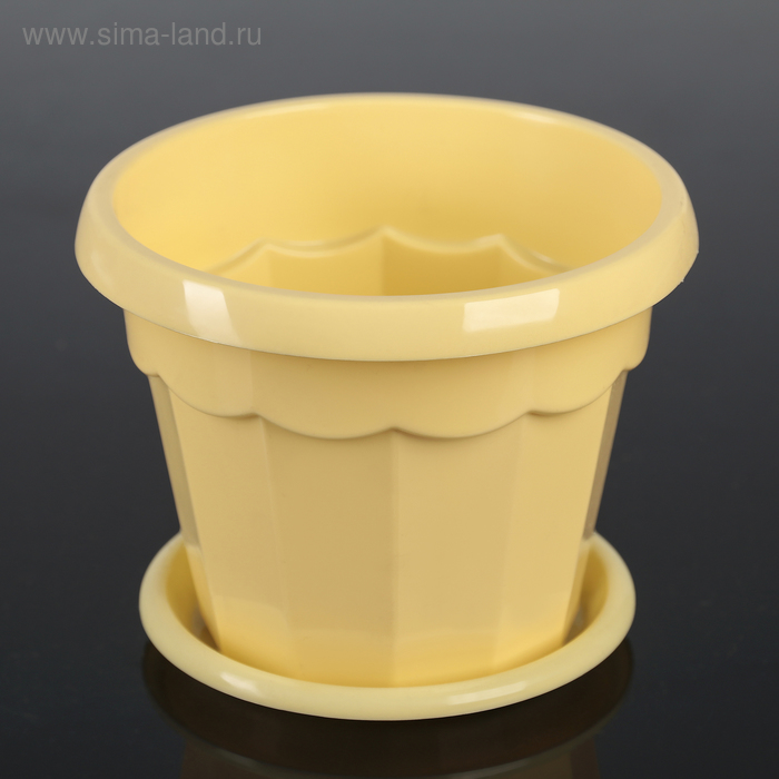 """The pot of flowers with pallet 0,7 l """"Eric"""", color yellow"""