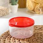 The food container 500 ml round color red