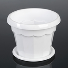 """The pot of flowers with pallet 0,7 l """"Eric"""", color white"""