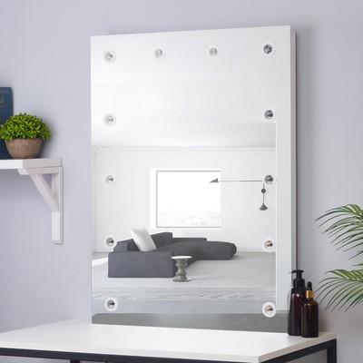 Зеркало, гримёрное, настенное, 12 лампочек, 60×80 см