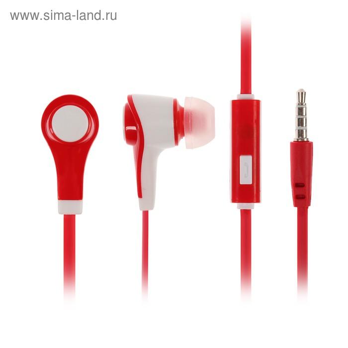 """Наушники Luazon LV-P-112 """"Лого"""", вакуумные, красно-белые"""