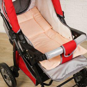 Набор для детской коляски для девочки, 2 предмета (подушка-35х38 см, матрас-69х38 см), цвет МИКС