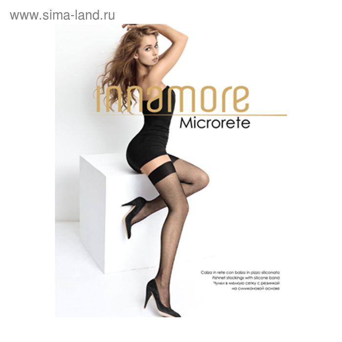 Чулки женские Innamore Microrete Calze, сетка, цвет nero (чёрный), размер 2
