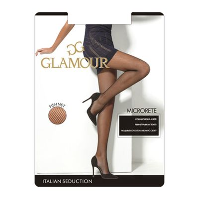 Колготки женские Glamour Collant Microrete glamour, сетка, цвет miele (лёгкий загар), размер 3
