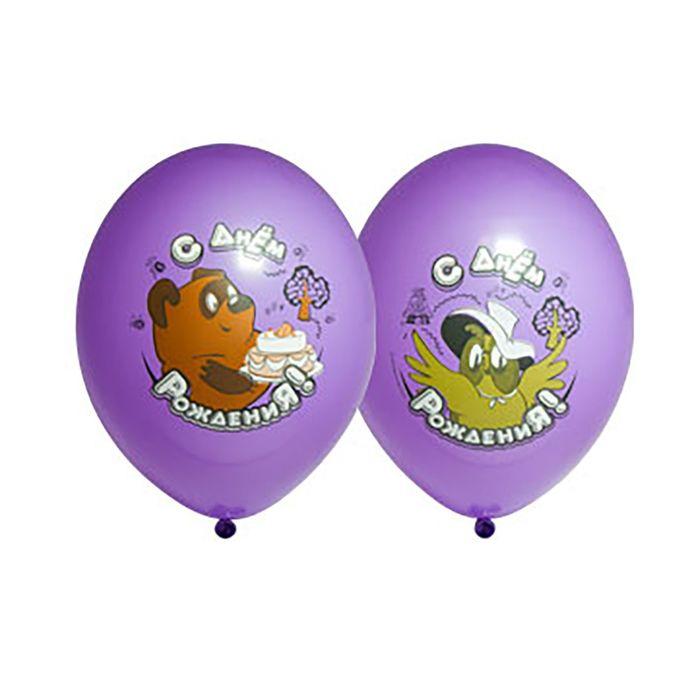 """Шар латексный 14"""" «С днём рождения! Винни-Пух», набор 25 шт., цвета МИКС - фото 308468780"""