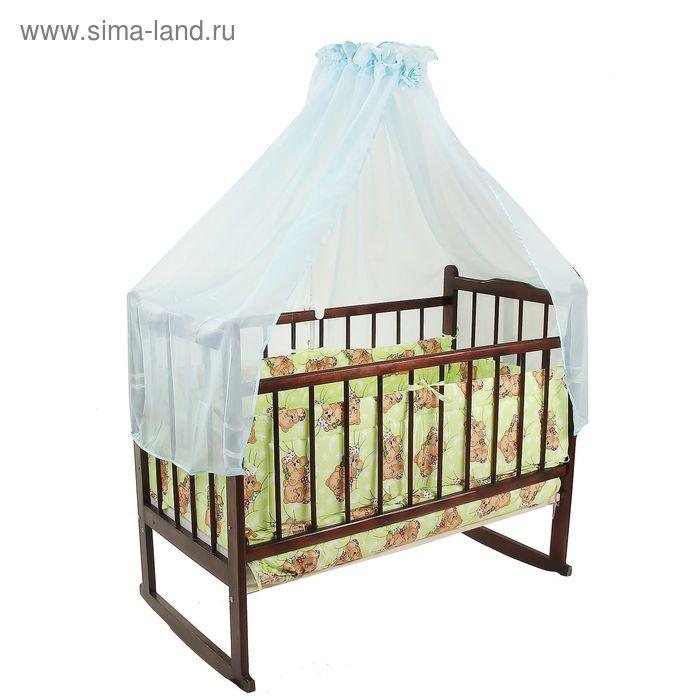 """Комплект в кроватку """"Сони"""" (7 предметов), цвет зелёный (арт. 10704)"""