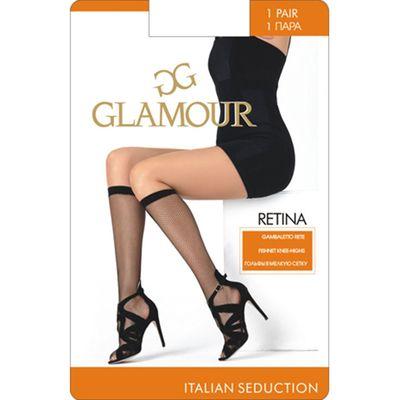 Гольфы женские Glamour Collant Retina, сетка, цвет miele (лёгкий загар)