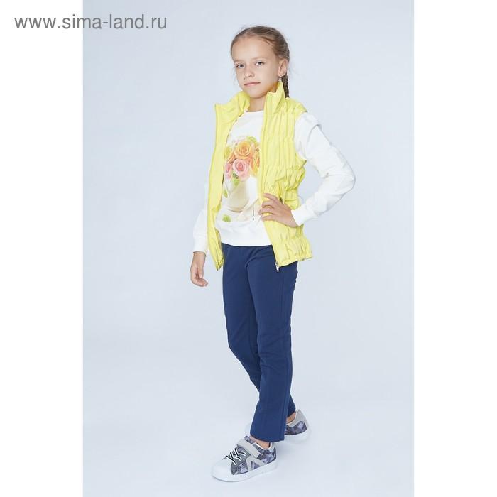 """Жилет для девочки """"Резинка"""", рост 116 см, цвет жёлтый"""