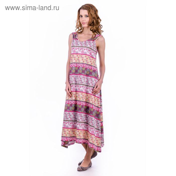 """Платье женское """"Вероника"""", цвет розовый, размер 54 (арт. MK2565/01)"""