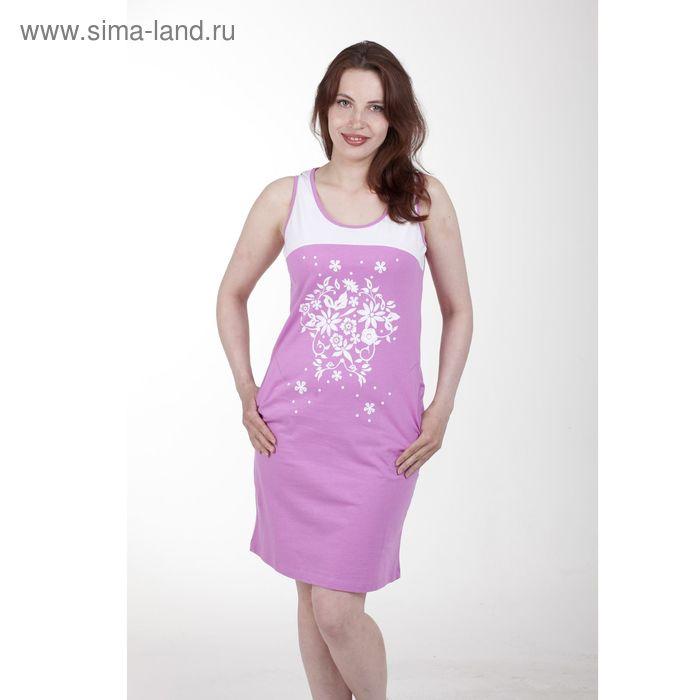Платье женское, цвет розовый, размер 54 (арт. PK2385/01)