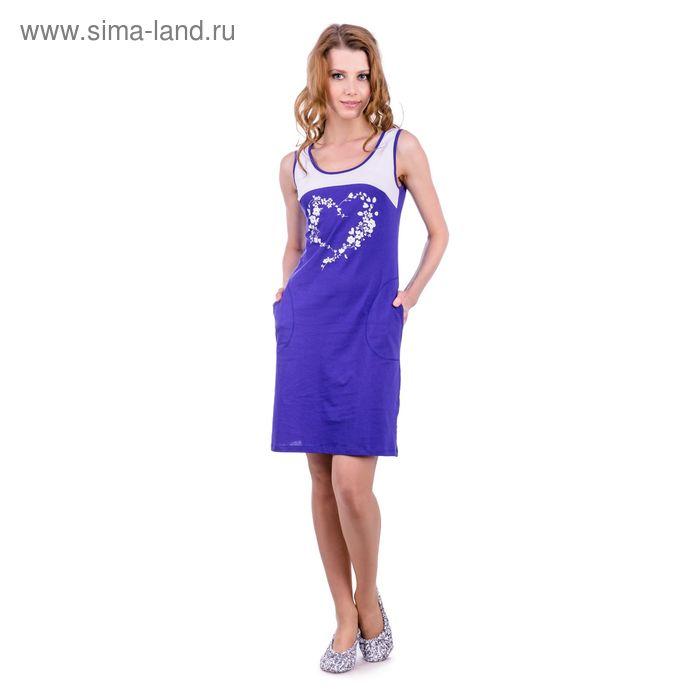 Платье женское, цвет васильковый, размер 52 (арт. PK2385/01)